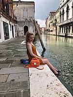 Сумочка Aperol от nastyvergun_bags из трикотажной пряжи Bobilon на каналах Венеции!