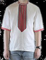 Вышиванка мужская из натурального льна, фото 1