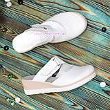 """Сабо женские кожаные белого цвета от производителя ТМ """"Maestro"""", фото 4"""