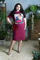 Сукня трикотажне з аплікацією, з 48-98 розміри, фото 1