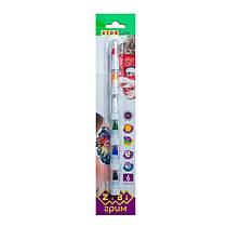 Аквагрим, краски (карандаши) для лица (6 цветов), ZB.6569