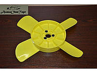 Крыльчатка вентилятора (радиатора)  ВАЗ 2101, 2102, 2103, 2104, 2105, 2106, 2107 4 лопасти желтая Херсон