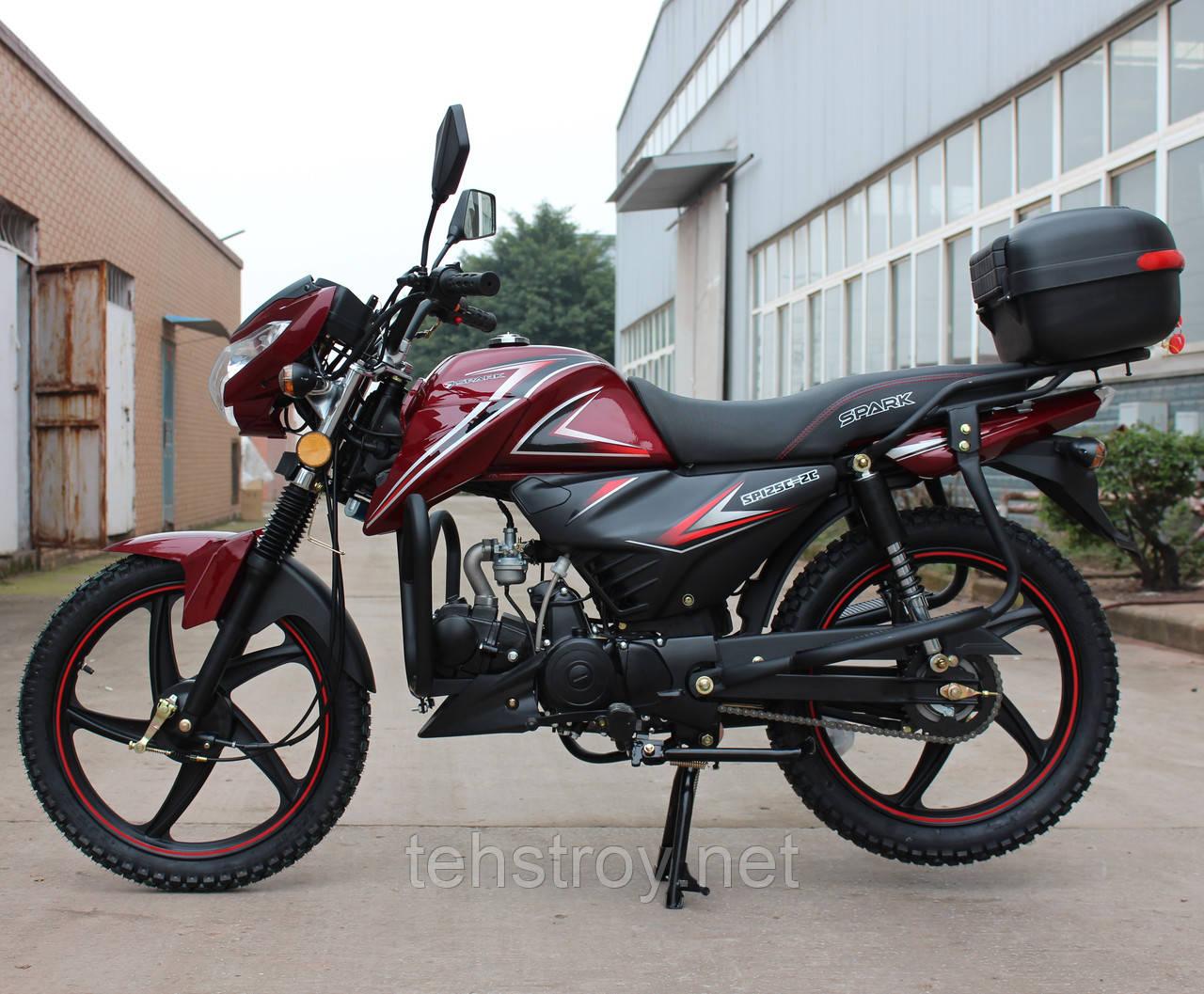 Мотоцикл SPARK SP125С-2C (красный,черный,синий,белый,серый,бордо) +Доставка бесплатно