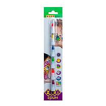 Аквагрим, краски (карандаши) для лица (6 цветов - неон), ZB.6571
