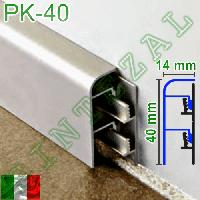Алюминиевый плинтус для пола Progress PROSKIRTING 40, фото 1