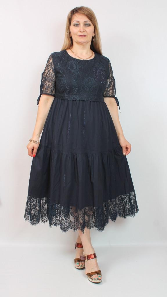 Турецкое кружевное женское платье для торжества, размеры 48-54