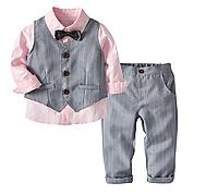 Комплект для хлопчика / Комплект одежды для мальчиков, жилет + рубашка + штаны, детские костюмы из 3 предметов