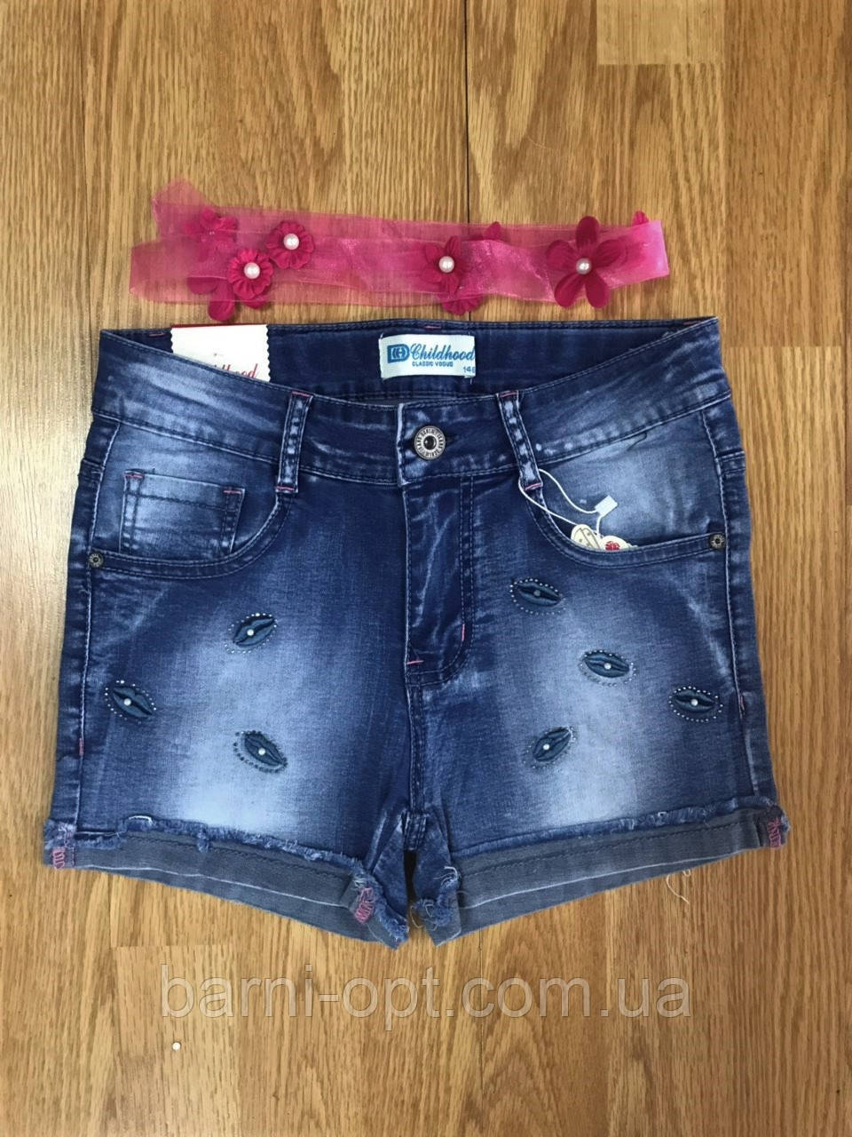 Шорти джинсові на дівчинку оптом, Childhood 134-164 рр