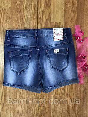 Шорти джинсові на дівчинку оптом, Childhood 134-164 рр, фото 2