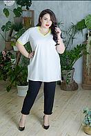 Летний трикотажный костюм женский, с 48 по 98 размер, фото 1