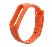 Запасной силиконовый ремешок для спортивного фитнес браслета Xiaomi Mi Band 2 оранжевый (orange)