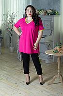 Річний трикотажний костюм для пишних жінок, з 48 по 98 розмір, фото 1
