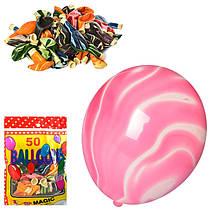 Набір надувних кульок (50 шт.), з мармуровим малюнком, MK 2582