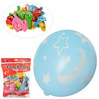 Набор надувных шариков (50 шт.), с луна и звезды (разноцветные), 12 см, MK 2580