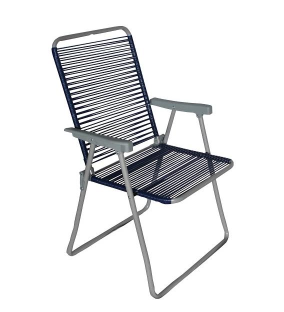 aly Крісло метал. ALY обплетене шнуром (бежеве, синє, помаранчове, зелене, чорне)