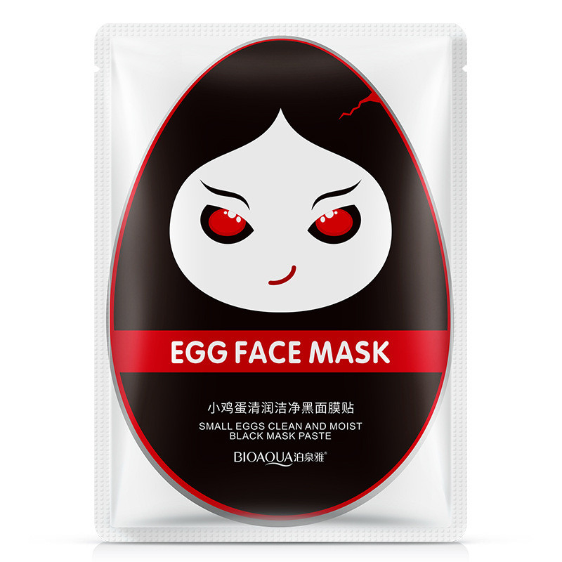 Маска для лица яичная BIOAQIA Small Eggs Clean and Moist Black Mask Paste (30г)