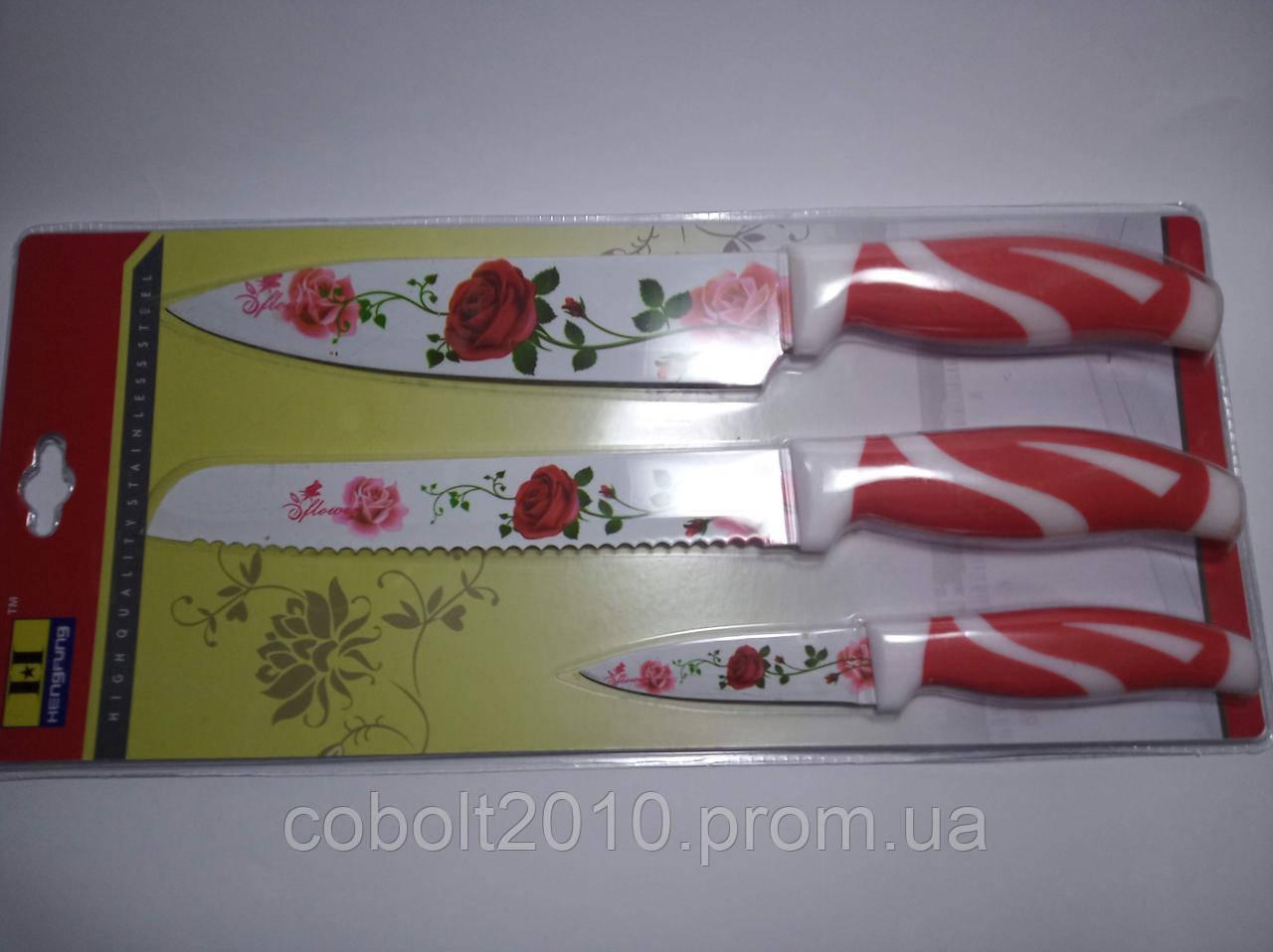 Набор кухонных метал / керамика ножей 3 шт