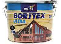 Антисептик для древесины Helios Bori Tex TopLasur 10л (эбеновое дерево)