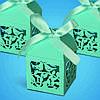Бонбоньерка на свадьбу в виде созвездия в зеленых тонах