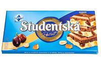 "Шоколад Studentska Duomix ""МОЛОЧНЫЙ-БЕЛЫЙ"" с арахисом и желе"