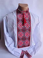 Вышиванка с длинным рукавом с красивым орнаментом для подростка