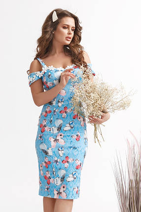 """Облегающее летнее платье-сарафан """"Бабочка"""" на бретелях, фото 2"""