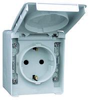 IP65 Розетка наружная с крышкой Efapel Waterproof48 16А/250В Shuko серая (48131 CCZ)