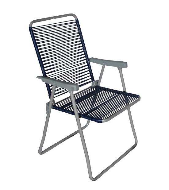 Крісло метал. ALY обплетене шнуром (бежеве, синє, помаранчове, зелене, чорне)