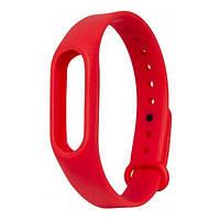 Запасной силиконовый ремешок для спортивного фитнес браслета Xiaomi Mi Band 2 красный (red)