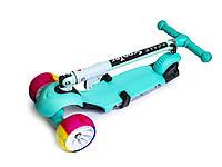Самокат детский Scooter 3 в 1.Tiffany. Складная ручка! Cо светом и музыкой! Смарт-колеса!, фото 1