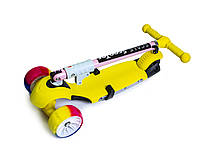 Самокат Scooter 3 в 1.Yellow. Складная ручка! Cо светом и музыкой! Смарт-колеса!, фото 1
