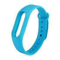 Запасной силиконовый ремешок для спортивного фитнес браслета Xiaomi Mi Band 2 голубой (blue)