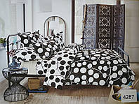 Сатиновое постельное белье евро ELWAY 4287 «Абстракция»