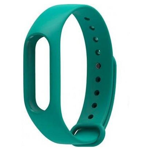 Запасной силиконовый ремешок для спортивного фитнес браслета Xiaomi Mi Band 2 зеленый (green)