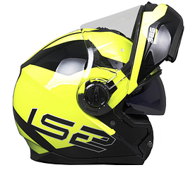 Мотошлем Ls2 FF325 Strobe Civik (Yellow Black)