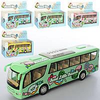 Автобус KS 7103 W мет., інерц., гум.кол., відчин.двері, 4 кольори, кор., 20,5-13-5 см.