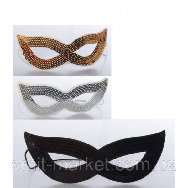 Маска-очки с пайетками