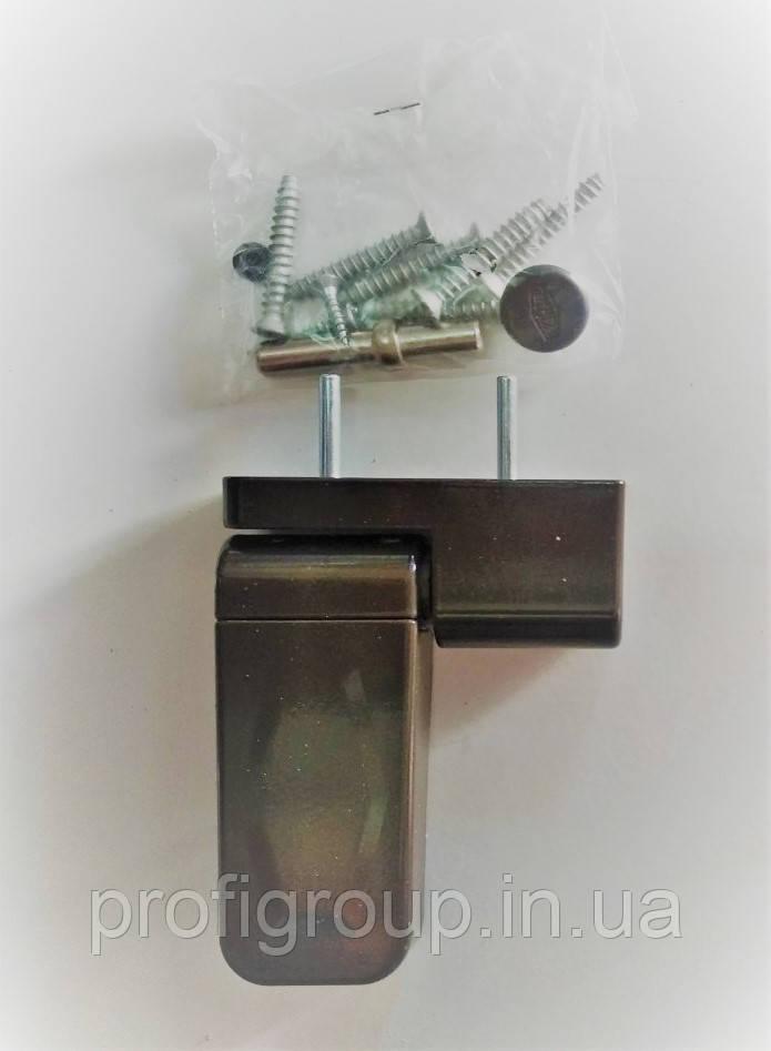 Петля дверна VORNE NEW 17-20 мм коричнева для віконної стулки або дверей ПВХ