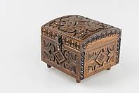 Квадратная шкатулка ручной работы из натурального дерева, 12,5*12.5*10 см, фото 1