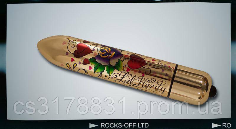 Вибратор Rocks Off RO-160mm TATTOO Hearts and Roses
