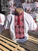 Вышиванка с коротким рукавом с красивым орнаментом для подростка