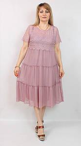 Турецкое женское летнее платье для торжества, размеры 48-62