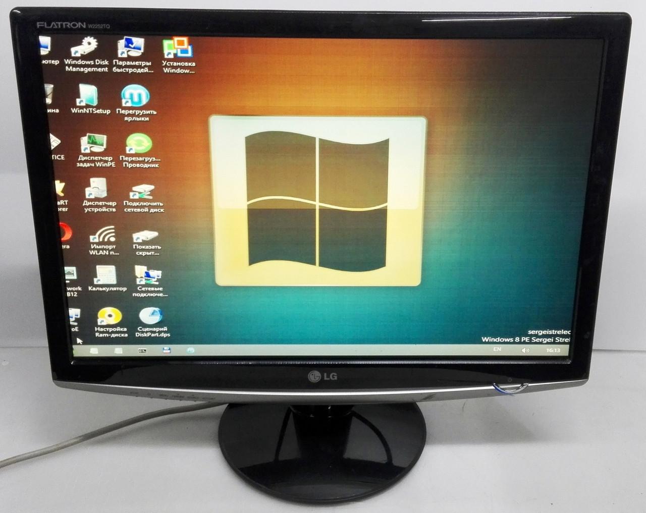 """Монитор 22"""" LG Flatron W2252TQ отличное состояние"""