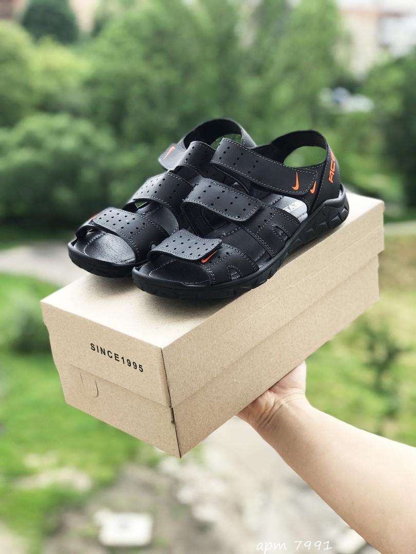 Мужские сандалии Yuves (черные)