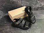 Мужские сандалии Yuves (черные) , фото 3