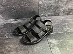 Мужские сандалии Yuves (черные) , фото 2