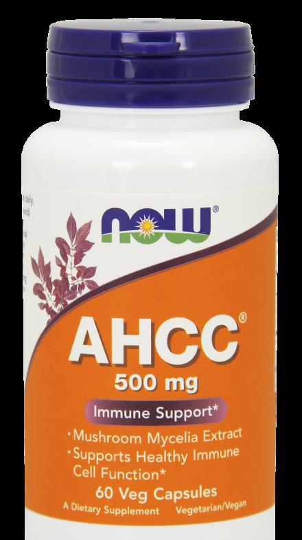 Имуномодулятор і протираковий засіб Now Foods AHCC 500mg 60caps