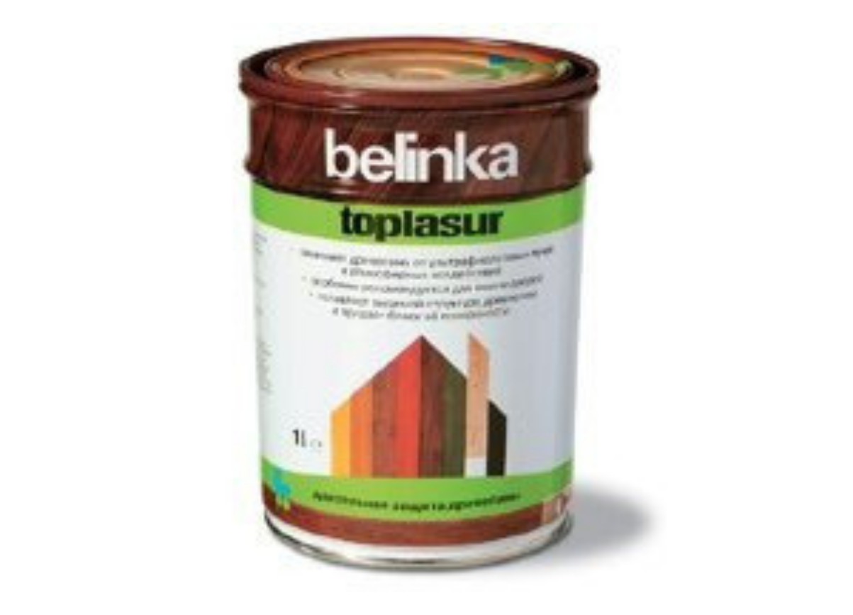 Цветная лазурь Belinka Toplasur 1л Старая древесина №28