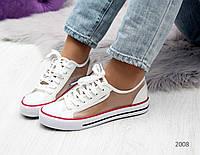 Женские белые кеды летние Converse, фото 1