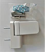 Петля дверная VORNE NEW 17-20 мм  белая для ПВХ дверей